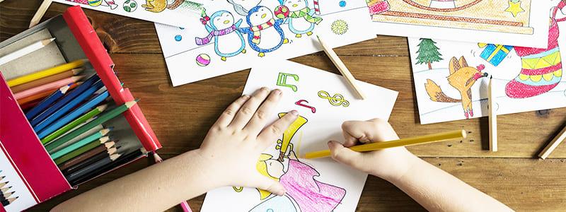 Crayons de couleurs de qualité Artiste
